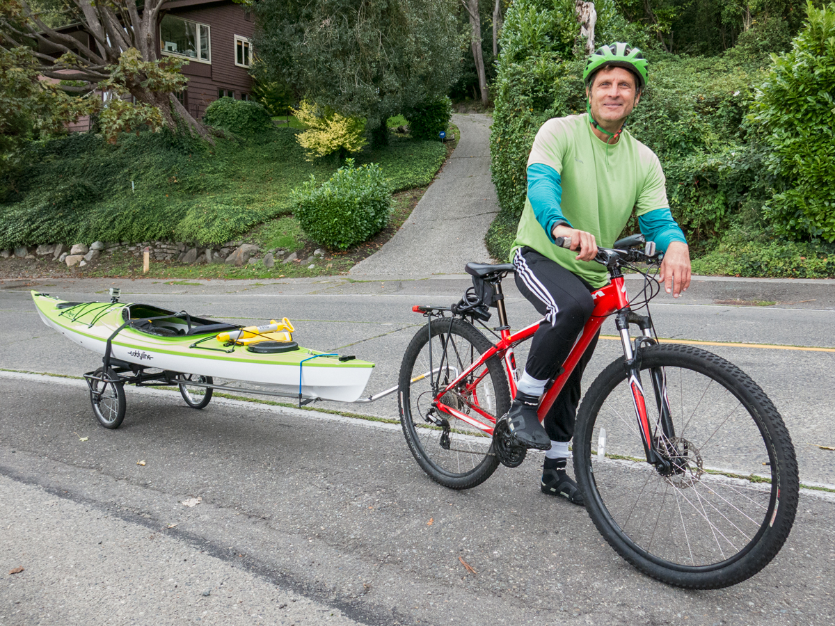 kayak bike trailer